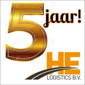 5 jarig bestaan HE-Logistics B.V.